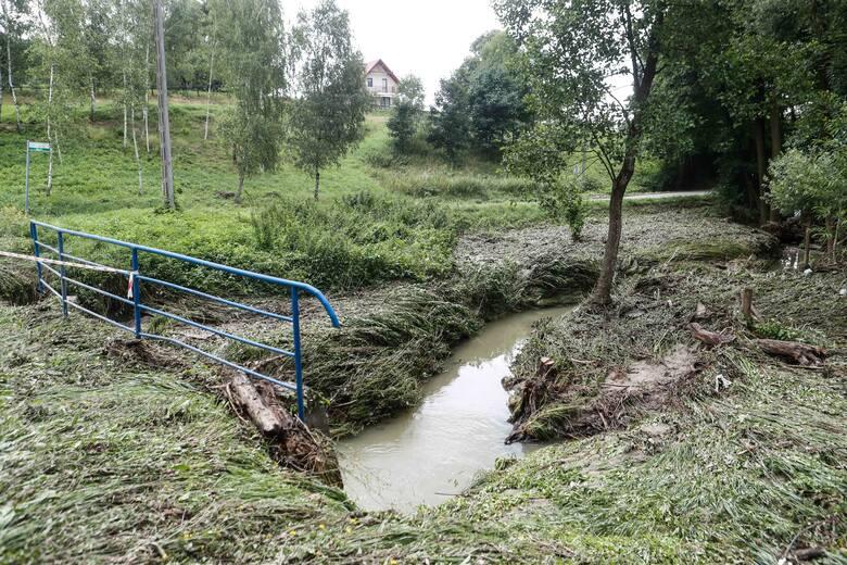 Intensywne opady deszczu na terenie powiatu.